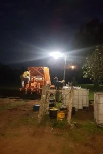 Preparation greenhouse location Agri Terra Paraguay