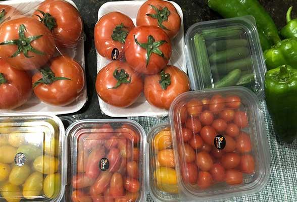 Distribution of greenhouse vegetables